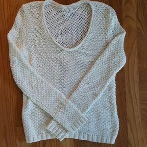 Women's white knit Gap top